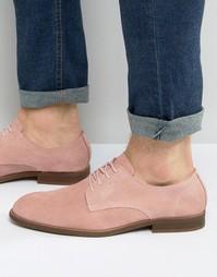 Розовые замшевые туфли дерби ASOS - Розовый