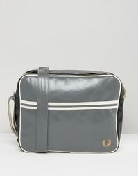 Классическая сумка почтальона Fred Perry - Серый