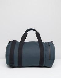 Темно-синяя матовая дорожная сумка Fred Perry - Темно-синий