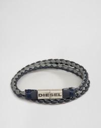 Плетеный браслет в два оборота Diesel Alucy