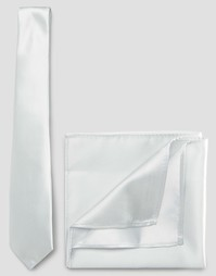 Свадебный галстук и платок для пиджака ASOS - Light stone