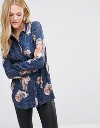 Рубашка с цветочным принтом Y.A.S Smuge - Edgecliff aop