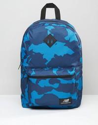 Темно-синий рюкзак с камуфляжным принтом New Balance - Темно-синий