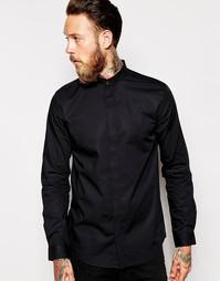 Рубашка из поплина без воротника Weekday Half Times - Черный