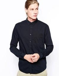 Джинсовая рубашка с 1 карманом Weekday - Черный