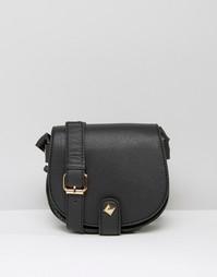 Сумка через плечо с ремешком с люверсами Yoki Fashion - Черный