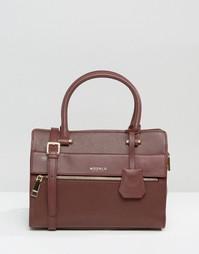 Маленькая кожаная сумка‑тоут Modalu - Бордовый
