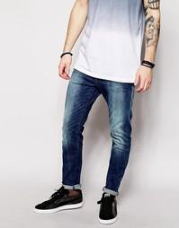 Стретчевые джинсы слим с эффектом поношенности G-Star Type C 3D