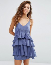 Платье с ярусными оборками d.RA Kade - Slate