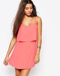 Креповое платье Abercrombie & Fitch - Розовый