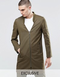 Куртка в стиле милитари с карманом сзади Underated - Хаки