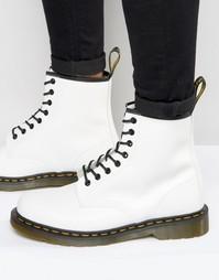Ботинки с 8 парами люверсов Dr Martens 1460 - Белый