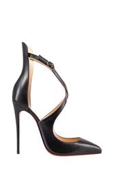 Черные Кожаные туфли Marlenarock 120 Christian Louboutin
