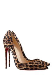 Коричневые Шелковые туфли So Kate 120 Christian Louboutin