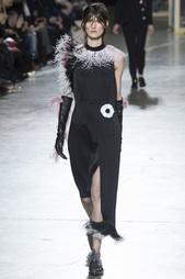 Платье с перьями Christopher Kane