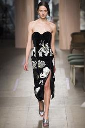 Бархатное платье-бюстье с вышивкой Rebecca Erdem
