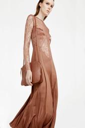 Платье с кружевом Nina Ricci
