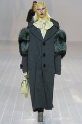Пальто с мехом Marc Jacobs
