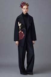 Шерстяное пальто с вышивкой Valentino
