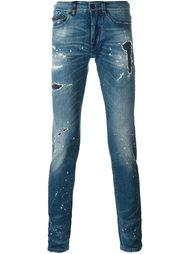 джинсы с рваными деталями   Marcelo Burlon County Of Milan