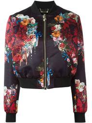 куртка-бомбер с цветочным принтом  Philipp Plein