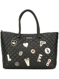стеганая сумка-тоут  Love Moschino