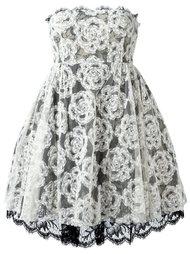 кружевное платье без бретелек Chanel Vintage