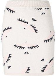 юбка с принтом-интарсией птиц Maison Kitsuné