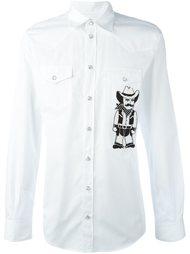 рубашка с аппликацией ковбоя Dolce & Gabbana