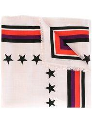 шарф с принтом '17'  Givenchy