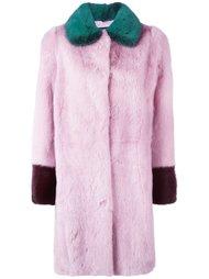 пальто колор-блок  Liska