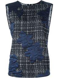 декорированная  блузка без рукавов  Giorgio Armani