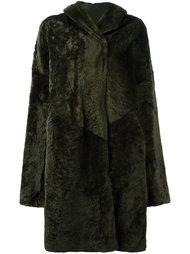 двустороннее пальто с капюшоном Sylvie Schimmel