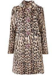 пальто с леопардовым узором Blumarine