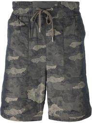 шорты с камуфляжным принтом Helmut Lang