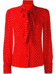 блузка в горох с бантом Saint Laurent