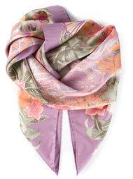 шарф в цветочный принт  Salvatore Ferragamo