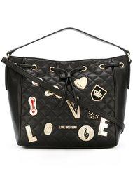 стеганая сумка-тоут с нашивками Love Moschino