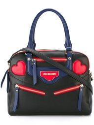 сумка-тоут с аппликацией сердец Love Moschino