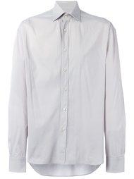 рубашка с косым воротником Prada Vintage