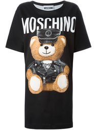 "платье-футболка с принтом ""teddy bear "" Moschino"