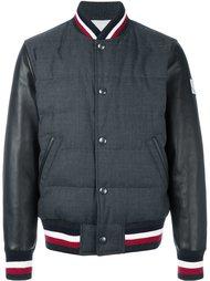 куртка-бомбер с контрастной окантовкой  Moncler Gamme Bleu