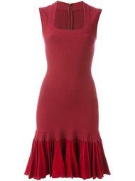 приталенное платье с плиссированным подолом Alaïa Vintage