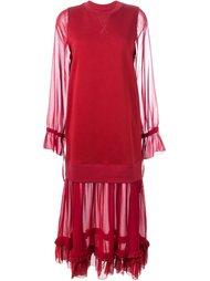 платье с прозрачной вставкой  Mm6 Maison Margiela
