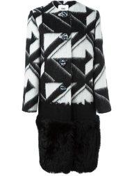 пальто с геометрическим узором  Fendi