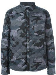 куртка с камуфляжным принтом  Moncler Gamme Bleu