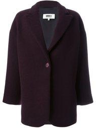 однобортное пальто Mm6 Maison Margiela