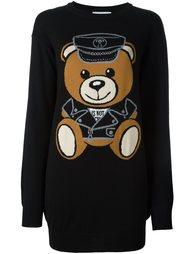 платье-свитер с принтом плюшевого медведя Moschino