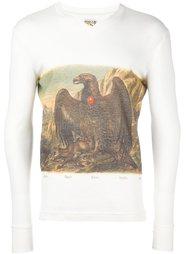 футболка с длинными рукавами и принтом орла Walter Van Beirendonck Vintage