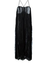 плиссированное платье миди Romeo Gigli Vintage